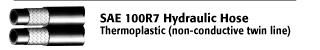 SAE 100 R7 Hydraulic Hose - Thermoplastic (Non-Conductive Twin Line)