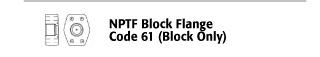 NPTF Block Flange - Code Flange 61 (Block Only)