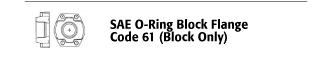 SAE O-ring Block Flange - Code 61 (Block Only)