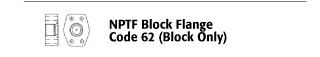 NPTF Block Flange - Code 62 (Block Only)