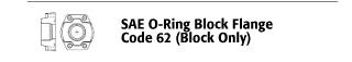 SAE O-ring Block Flange - Code 62 (Block Only)