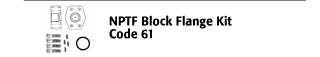NPTF Block Flange Kit - Code 61