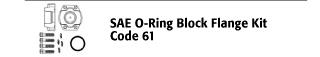 SAE O-Ring Block Flange Kit - Code 61