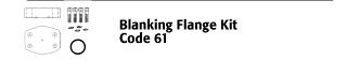 Blanking Flange Kit - Code 61