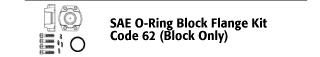 SAE O-Ring Block Flange Kit - Code 62