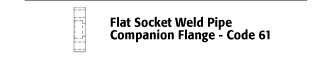 Flat Socket Weld Pipe Companion Flange - Code 61
