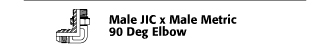 Male JIC x Male Metric 90° Elbow
