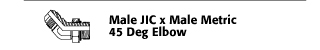 Male JIC x Male Metric 45° Elbow