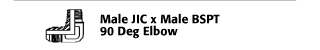 Male JIC x Male BSPT 90° Elbow