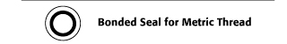 Bonded Seal for Metric Thread