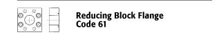Reducing Block Flange - Code 61
