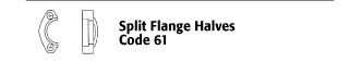 Split Flange Halves - Code 61