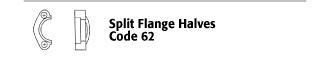 Split Flange Halves - Code 62