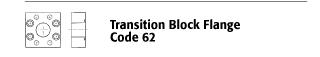 Transition Block Flange - Code 62
